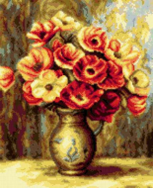 Кувшин с цветами, предпросмотр