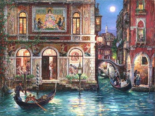 Вечерняя Венеция, пейзаж