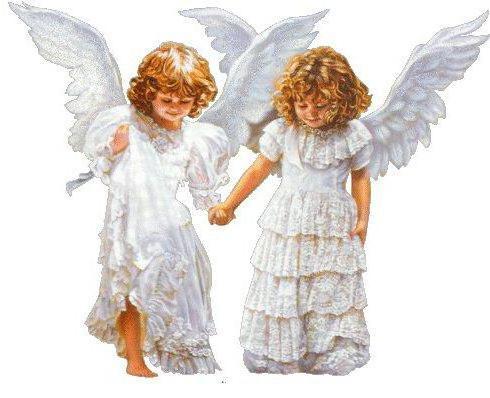 Два ангела, ангелы, картина,