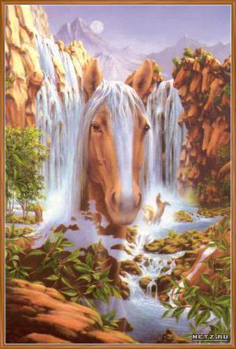 Голова лошади, природа