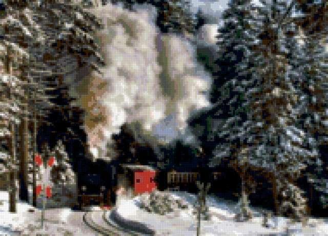 Поезд в лесу, предпросмотр