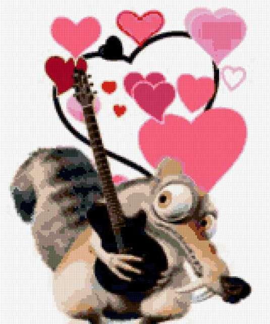 Белка с гитарой, предпросмотр