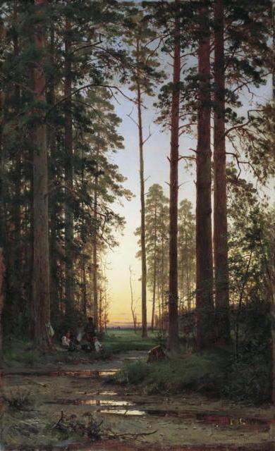 Шишкин-опушка леса, оригинал