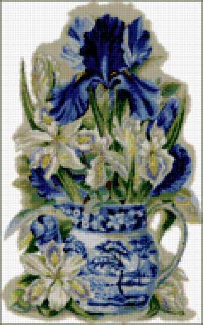 Китайская ваза с цветами,