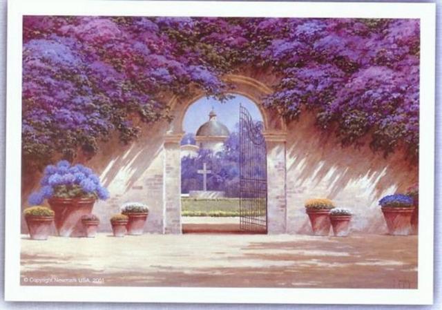 Архитектура - арка в цветах,