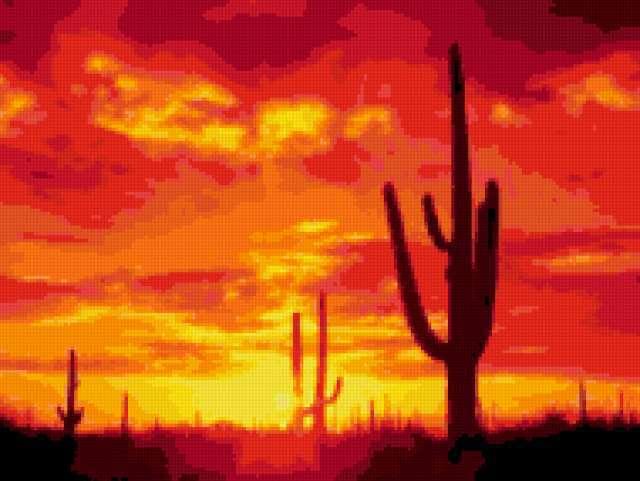 Закат в пустыне, предпросмотр