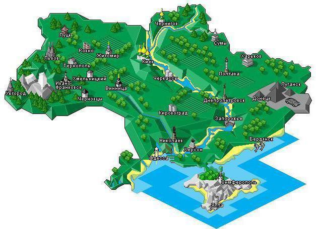 Карта украины, оригинал