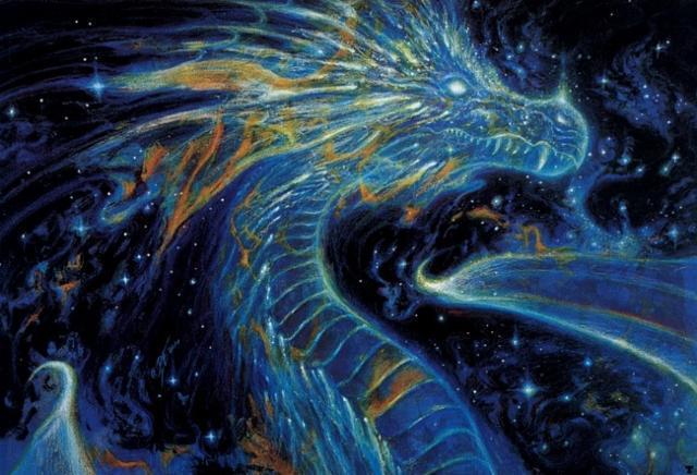 Синий дракон, оригинал