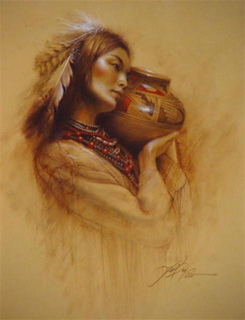 Индианка с кувшином, оригинал