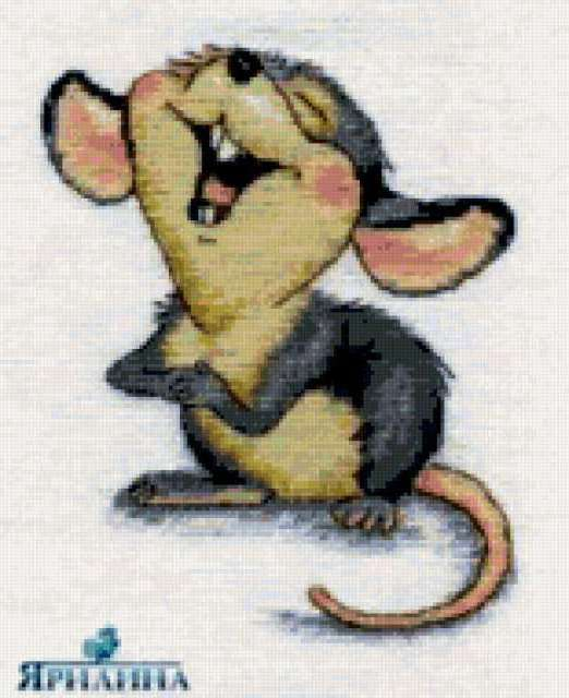 Мышка смеется, предпросмотр