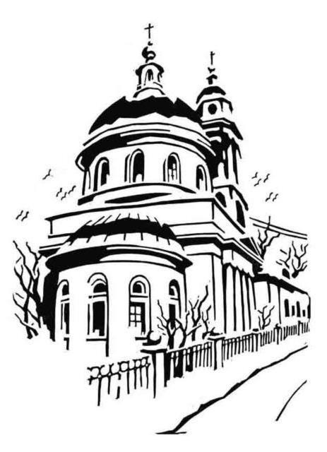 Церковь, гравюра