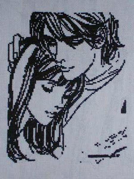 Схемы вышивки крестом черно-белая любовь
