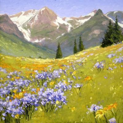 Альпийский луг, пейзаж, лето,