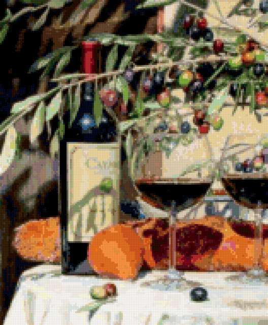 Вино и оливки, предпросмотр
