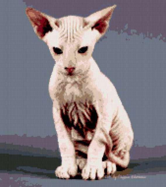 Схемы вышивки-египетские кошки