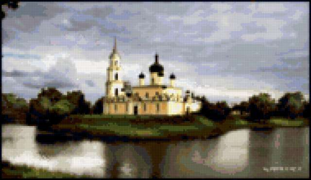 На острове, храм, церковь,