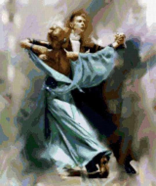 Вальс, танец, вальс, пара