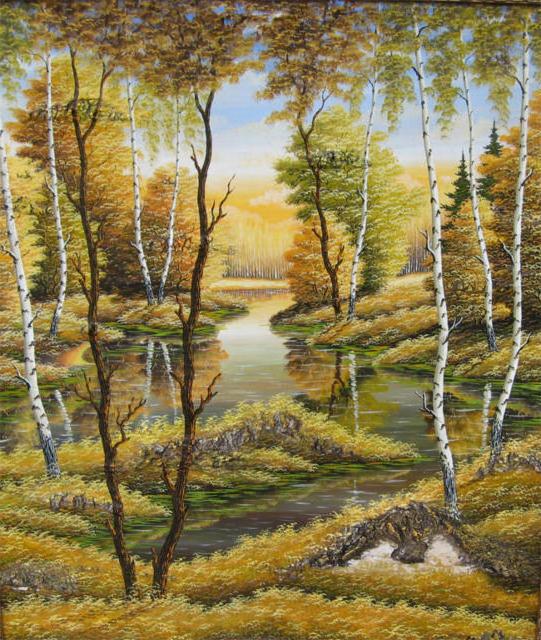 Схемы для вышивки крестом природа пейзаж 155