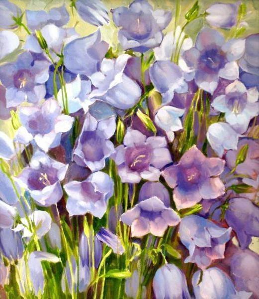 Букет колокольчиков, цветы