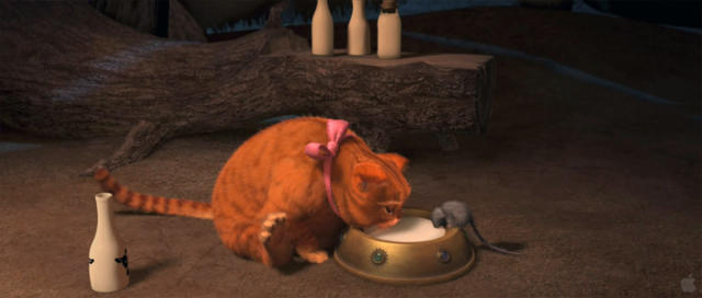 Кот в сапогах со Шрека,