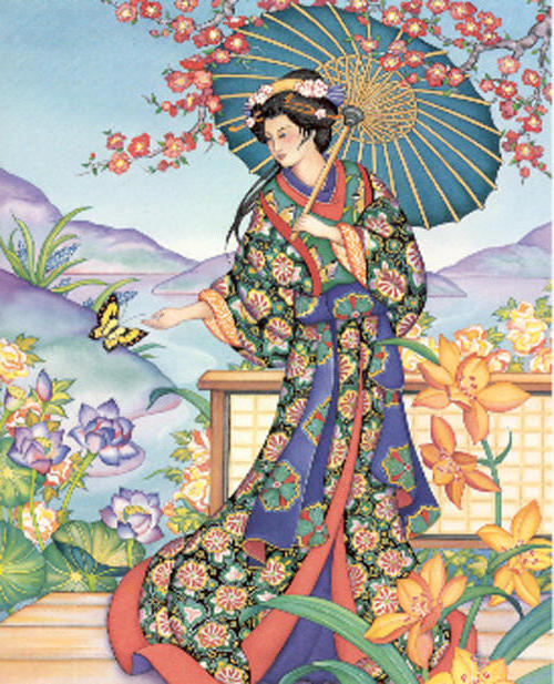 Японка, живопись, женский