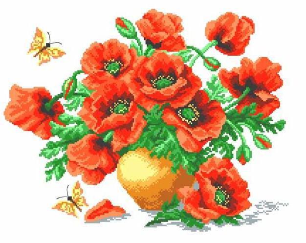 Маки, цветок, ваза