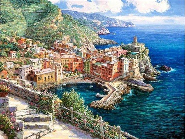 Город на побережье, оригинал