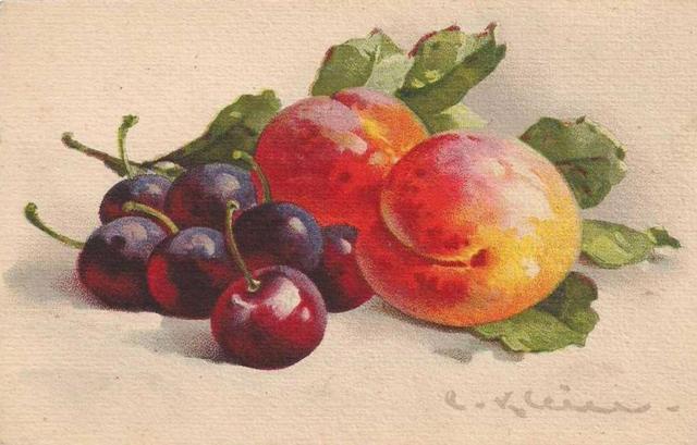 Персики и вишня, оригинал