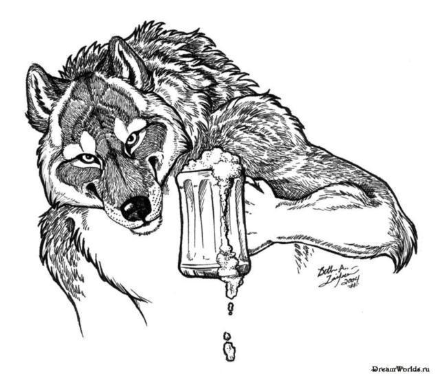 Волк с пивом))), оригинал