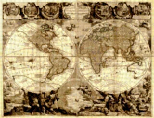 Старая карта, предпросмотр
