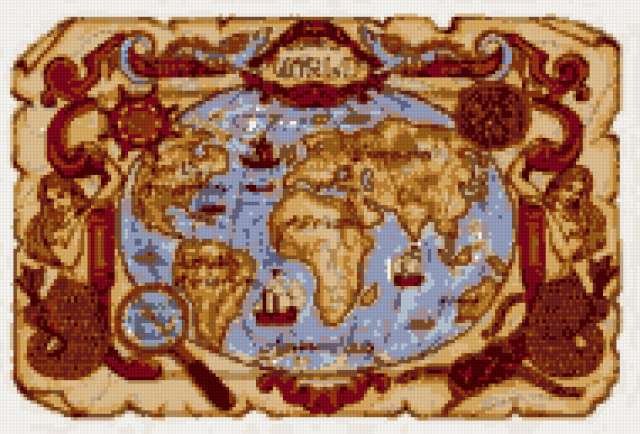 Старинная карта, предпросмотр