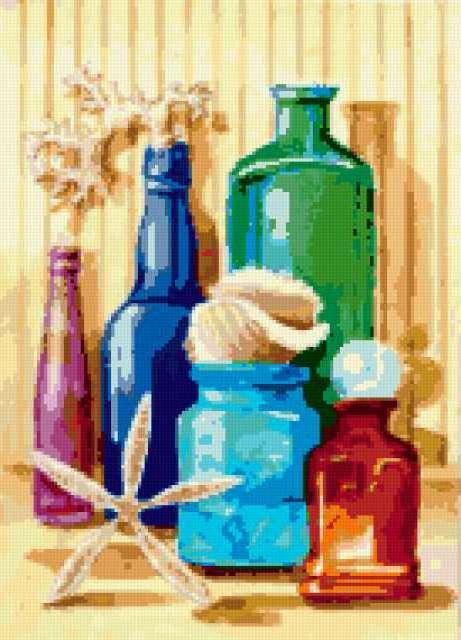 Схемы вышивки бутылочки