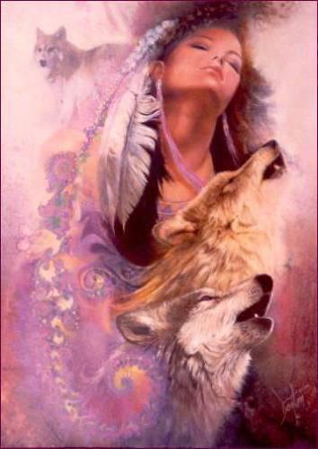 Девушка с волками, девушка с