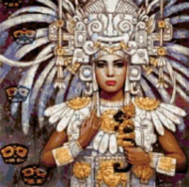 Племя майя, девушка, майя,