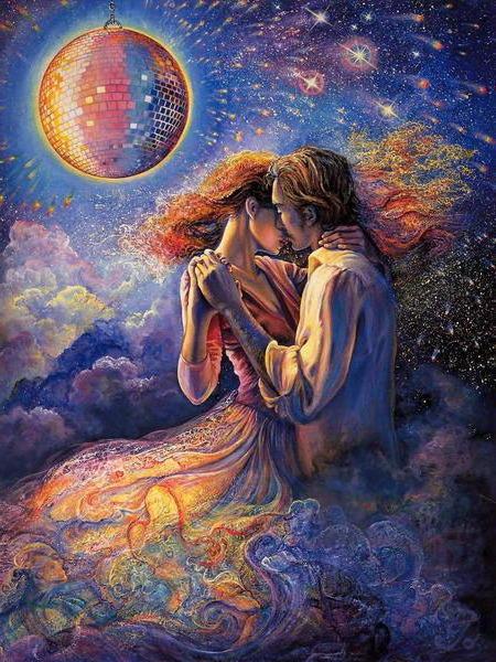 Лунный танец, пара, любовь