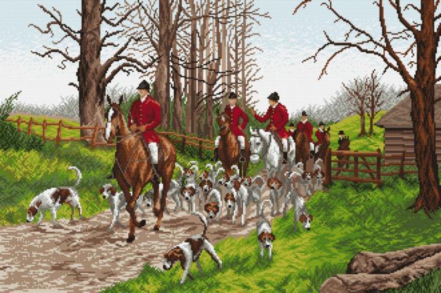 Псовая охота, животное, лошадь