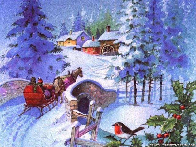 Зимушка, зима, город, новый