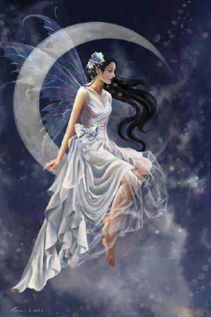 Лунная фея схема вышивки