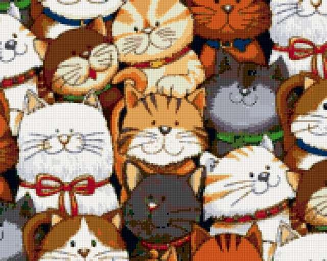 """Подушка """"Разные коты"""", подушка"""