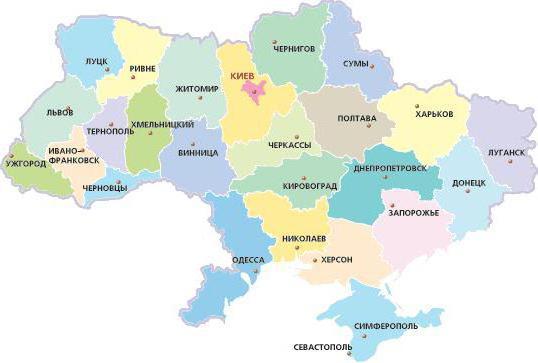 Карта, украина, география