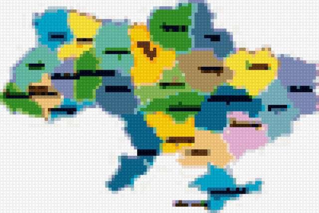 Украина, карта, символика