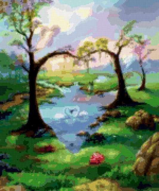 Heart-shaped tree, дерево,