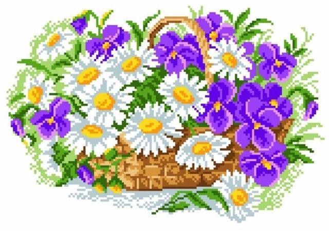 Цветы в корзинке, оригинал