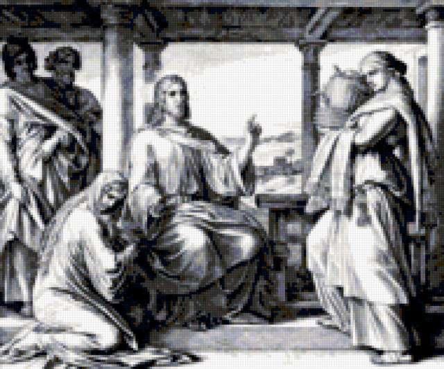 Иисус. Мария и Марфа.,