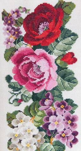 Розы и фиалки, розы, фиалки,