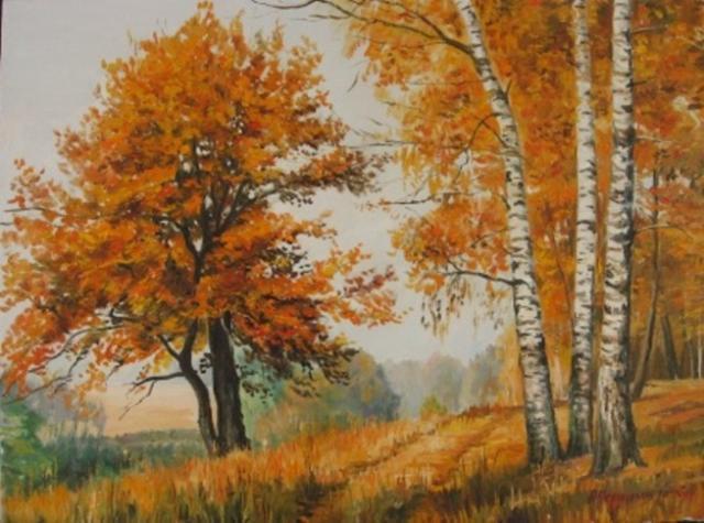 Золотая осень, пейзаж, природа