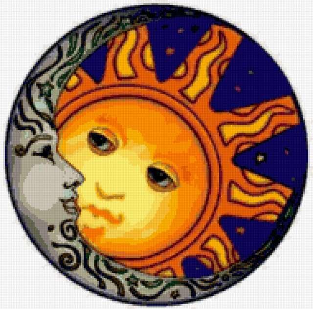 Солнце и луна, предпросмотр
