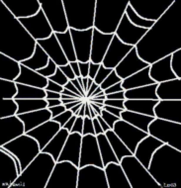 Схема вышивки паутина