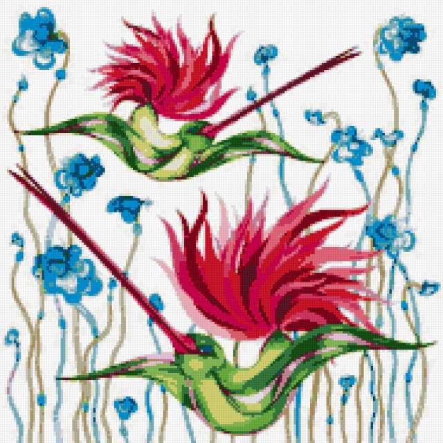 Райские птицы, картина