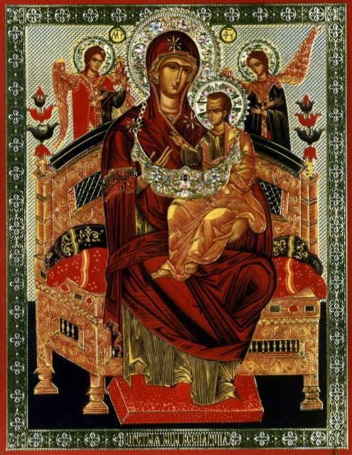 Вышивка крестом всецарицы в